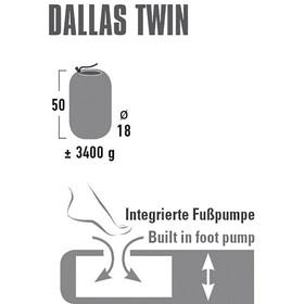 High Peak Dallas Twin Comfort Mattress Red